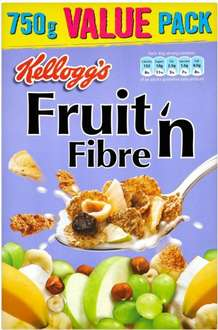 Kellogg's Fruit 'n' Fibre (750g) was £2.00 now 2 for £3.00 @ Morrisons