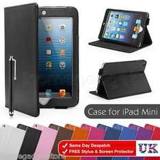 Smart Stand PU Leather Case Cover & Screen Protector & Stylus For Apple iPad Mini only £1.99 @ eBay/32ndshop