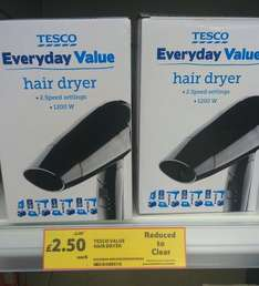 tesco brand hair dryer £2.50 instore