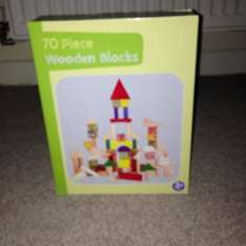 Carousel 70 piece wooden blocks was £7 now £3 in Asda