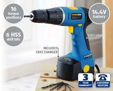 14.4V Cordless Hammer Drill with bits & 3 yr warranty from 13th £19.99 at Aldi
