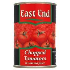 East End 400g Tinned Chopped Tomatoes 39p each - any 4x for £1 in Tesco