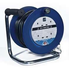 Masterplug Cable Reel 25m, 4 sockets, 13 Amp, thermal cut £18.79 delivered Sold by Elektrotec and Fulfilled by Amazon