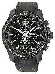 SNAE97P1 Gents Seiko Black Dial Black Leather Strap Watch @ Amazon - £150