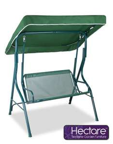 Hectare™ 2 Seater Swing Seat with Straight Canopy - Green £39.99 @ Primrose Delivered