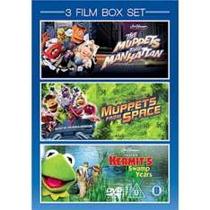 The Muppets Take Manhattan / Muppets From Space / Kermit's Swamp Years - 3 DVD Boxset @ Asda Direct