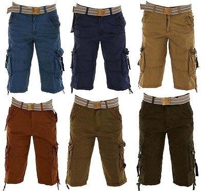 Men Chinos Cargo Combat Long Summer Pants Bottom Bermuda Shorts 100% Cotton[size28-36]-£10.99@ GAFFER DEALS / Amazon