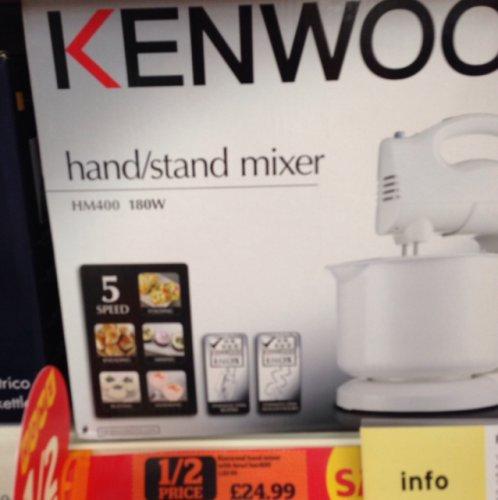 Kenwood Stand Mixer £24.99 instore @ Sainsbury's