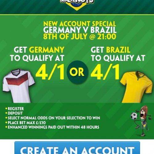 Paddy power 4/1 Germany OR Brazil to qualify £10 @ Paddy Power