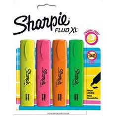 Sharpie Fluo XL Highlighters - 4 Pack 88p @ Asda Direct Free C&C