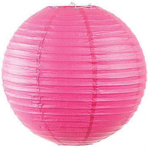 Pink paper lampshade Lantern 25p @ Wilko in store