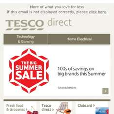 Tesco Direct Summer Sale Now on!