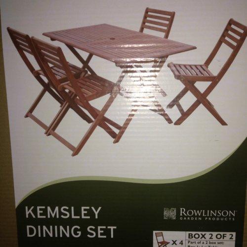 Kemsley five piece garden set £50 @ Morrisons