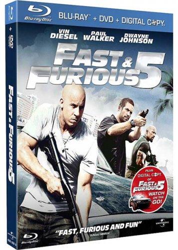 Fast & Furious 5 - Triple Play (Blu-ray + DVD + Digital Copy) @ Base - £2.99