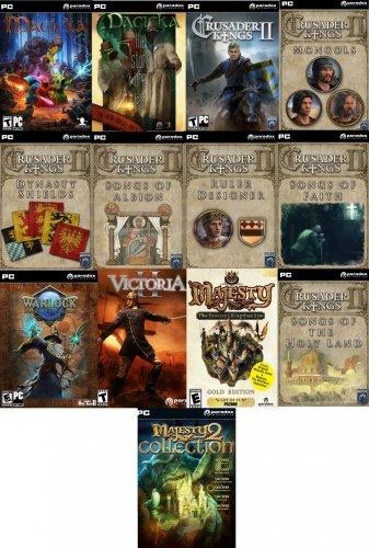 Paradox Games Bundle (PC - STEAM) inc - Crusader Kings II + DLC, Magicka + DLC, Majesty 2 Collection + Gold HD, Victoria II, Warlock Master of the Arcane @ Amazon US - £10.97