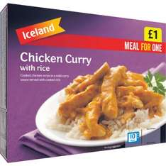 Iceland '£1' frozen meal range now 89p