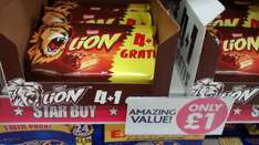5 lion bars £1 @ Poundworld
