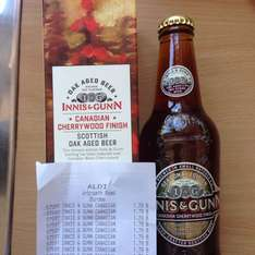 Innis & Gunn Canadian cherrywood finish scottish oak aged beer in presentation box for £1.79 in Aldi Dundee (may be national in Scotland but not too sure about England)
