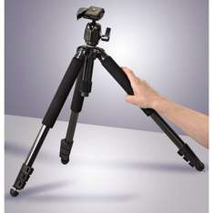 Hama Traveller Compact Pro full sized Tripod with 3D ball head and multi angled legs £25.00 @ tesco direct and Amazon