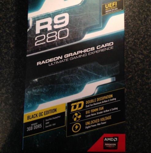 XFX Radeon R9 280 DD Black Edition OC 3GB GDDR5 R9-280A-TDBD + Free Delivery + AMD Radeon Gold Reward - Choose 3 Free Games £156.98 @ Novatech