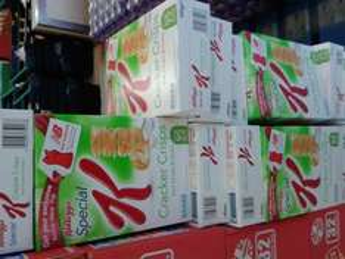 Kellogg's Special K Cracker Crisps Sour Cream & Onion Flavour 80g Box (21Crisps), 95 Calories Per Serving .. 3 x 80g Boxes for £1 at Farmfoods at Farmfoods