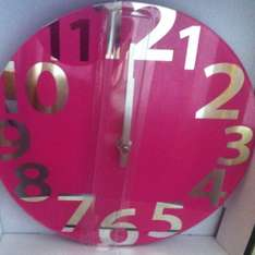 Glass clock with mirrored numerals £3.00 instore at Asda