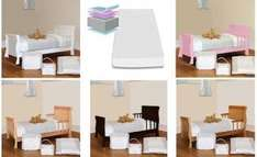 4Baby Sleigh Junior Toddler Starter Bed With Fibre Mattress & Rails £89.95 /w code Free Uk Delivery @ Online4Baby