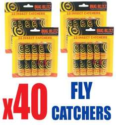 40 x Sticky Fly Insect - Poison Free Paper Catchers £4.95 @ Ebay / bluelagoonproducts