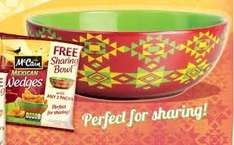 Free Sharing bowl with Mcain wedges (£1 each) ends March 2015 @ Iceland