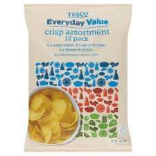 Tesco Everyday Value (Ready Salted or Variety Crisps) (12 x 18g = 216g) ONLY 66p @ Tesco (METRO stores)