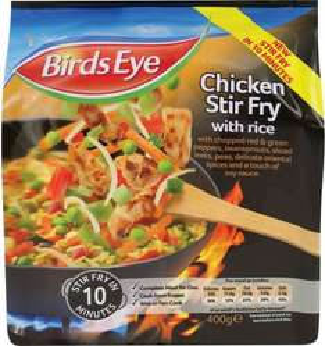 Birds Eye Chicken Stir Fry with Rice (400g) was £2.50 now £1.50 @ Sainsbury's