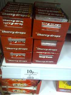 Cherry drops 10p a packet in home bargains