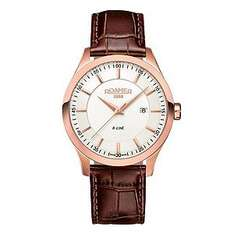 Roamer R-Line men's rose gold-plated brown strap watch - £100 delivered @ Ernest Jones.