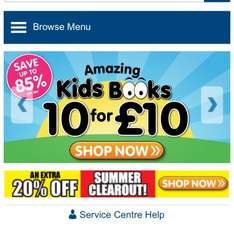 10 books for £10.00 @ The Works