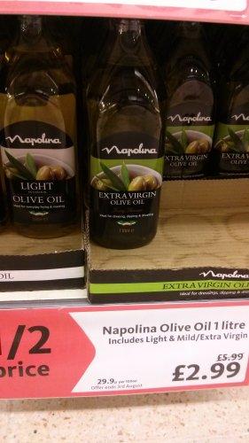 Napolina Extra Virgin / Light / Mild Olive Oil 1 Ltr 2.99 @ Morrisons