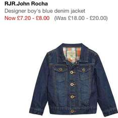 Boys debenhans John rocha denim jacket £8