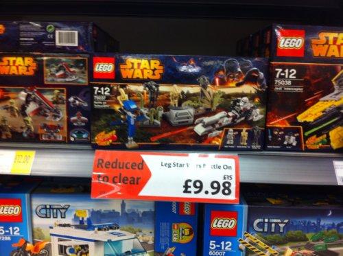 Lego Star Wars 75037 Battle on Saleucami reduce to clear £9.98 @ Morrisons Kidderminster