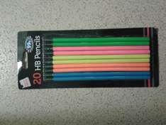 20 hb pencils for 10p @ b&m's