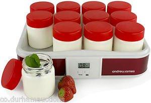 andrew james 12 pot/2.5ltr digital yoghurt maker £19.99 at ebay/co.durhamauctions