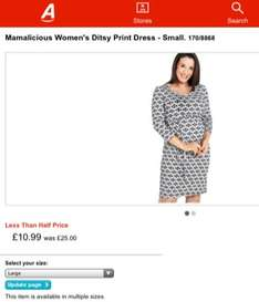 Maternity clothes save over 50% off at Argos