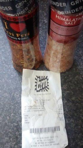 peri peri seasoning and Himalayan salt grinders £1.99 @ b&m