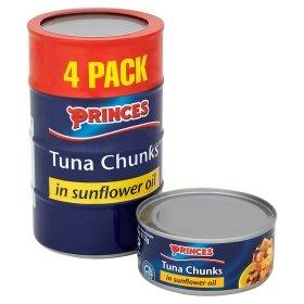 Princes Tuna Chunks in Sunflower Oil 4x160g 2 FOR £6.00 @ Asda