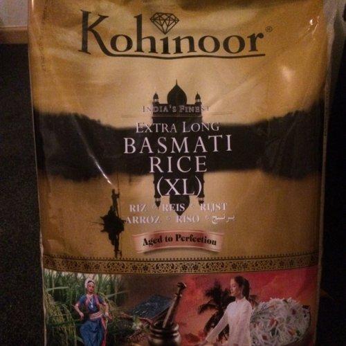Kohinoor basmati rice £13 10kg  - £10 using code @ Tesco