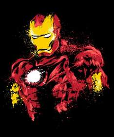 Exclusive IRON MAN Designs - T-SHIRTS (Male / Female / Kids) - Deal ends 11pm Today (50p off with code) - @ Qwertee - £10.50 each