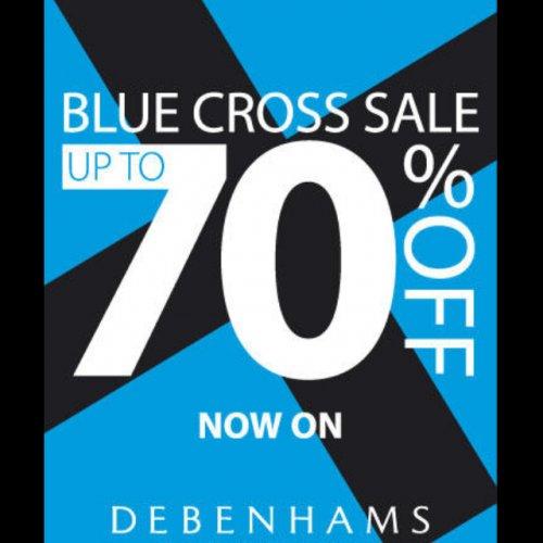 Debenhams Blue cross sale in store and online!