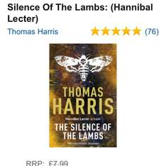 Silence of the Lambs, Thomas Harris, paperback £1 @ Amazon   (free delivery £10 spend/prime)