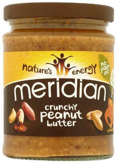 Meridian Natural Crunchy Peanut Butter - Pack of 6 x 280g jars - £6.10  - Add-on Item / £10 spend - from Amazon