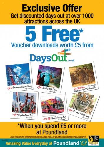 get 5 free vouchers worth £5 when u spend £5.00 @ poundland