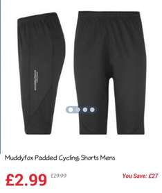 muddyfox padded cycling shorts for men from sports direct £2.99 + £3.99 P&P