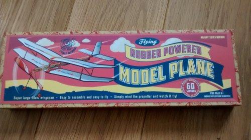 flying rubber powered model plane @ home bargains £1.99